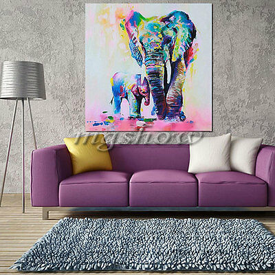 Elephant Canvas Watercolor Wall Art Unframed Print Picture On Canvas Home Decor