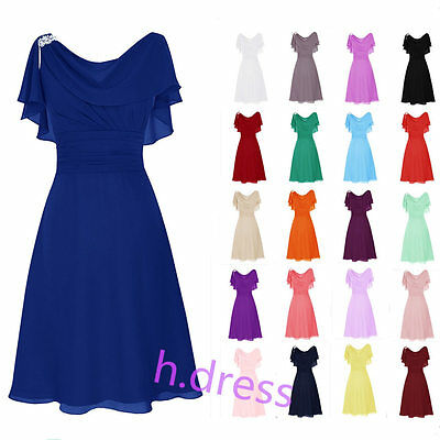 Short Chiffon Bridesmaid Formal Ball Gown Homecoming Party Evening Prom Dress