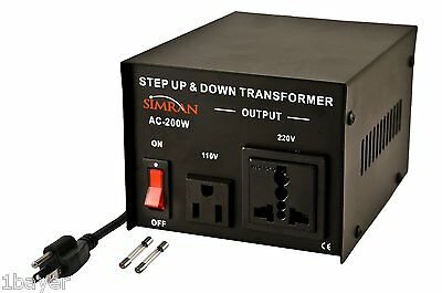 Simran Step Up Down Voltage Converter CE Travel Picnic RV Camping Transformer