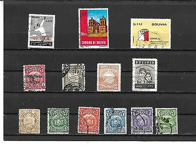 Bolivia #  40,120-121,124,138,145,189,223,302,457,512,538,564,  Used  Stamps