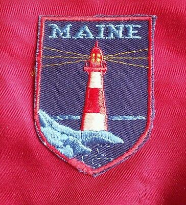 "State of Maine state PATCH Emblem Aprox 2.75"" x 2 light house"