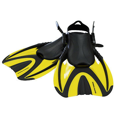 Snorkel Master Adult Yellow Swimming Snorkeling Fins