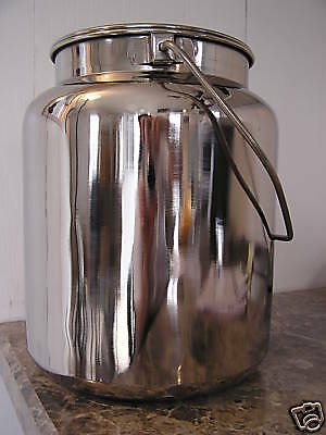 NEW Stainless Steel Milk Can with Lid - 10 qt capacity