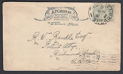Victoria - 1906 Illustrated Cover to USA