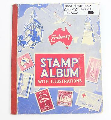 Coles Embassy 1960's world stamp album used (no stamps)