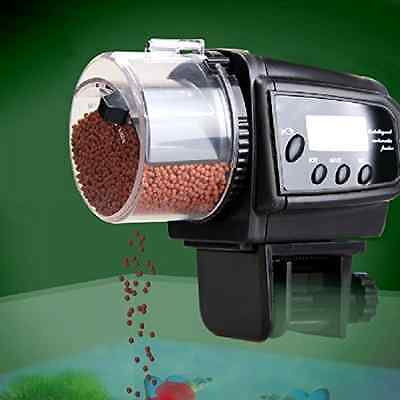 Feeder Dispenser for Pet Fish Automatic with LCD Display Timer And Anti Clogging