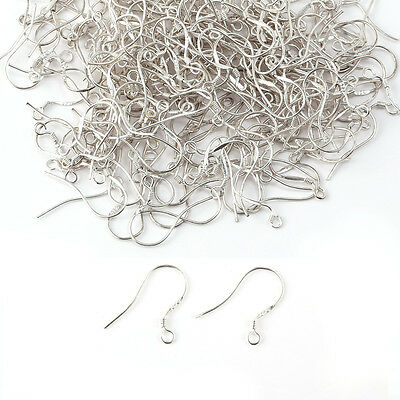 200pcs 925 Sterling Silver Earring Hooks Hook Ear Wires, Head Pins & Eye Pins