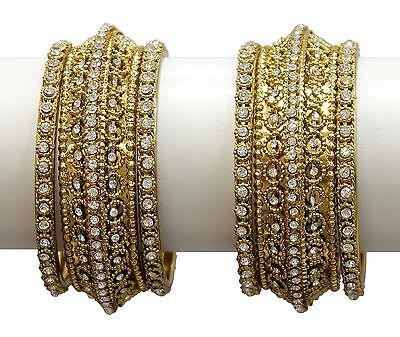 83 Indian Crystal Stylish Bangle jewelry Bracelets Bollywood Partywear For Women