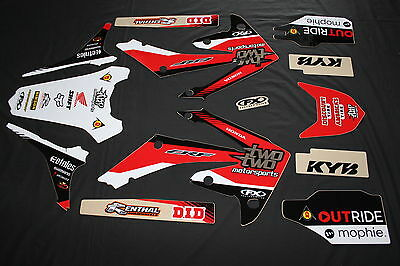 Honda Crf450R 2009-12 & 250R 2010-13 Two-Two Fx Mx Graphics Decals Kit Stickers
