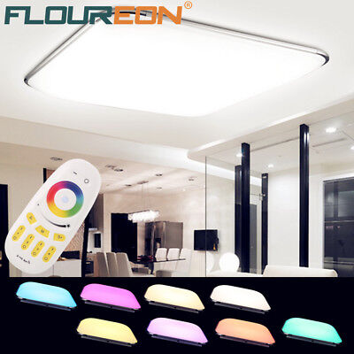 Intelligent RGB LED Ceiling Light 2.4G Wireless Remote Control Infinite Dimming