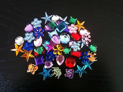50+ Large Acrylic Rhinestones / Jewels - 14mm-22mm - Mixed Colours & Designs