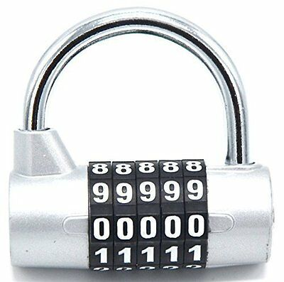 Fully Big Combination Padlock; 5 Passwords Sturdy Security Combination Lock for
