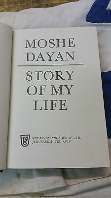"""moshe dayan idf """"story of my life"""" with personal signature and dedication WOW!!"""