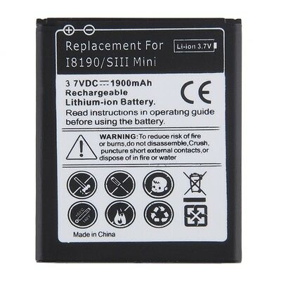 1900mAh Li-ion Battery Replacement for Samsung Galaxy S3 Mini GT-i8190 i8160@D