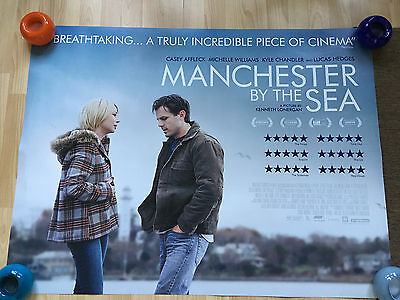 Manchester by the Sea ORIGINAL UK QUAD POSTER (Casey Affleck,Michelle Williams)