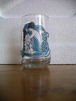 VTG AQUARIUS 1976 Glass Tumbler BEVERLY HOROSCOPE Zodiac Sign Astrology Arby's