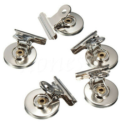 2~10PCS Metal Magnetic Magnet Clip Non Slip Clamp Fridge Wall Memo Note Holder