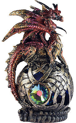 Red Jewel Of Phyorga LED Colour Changing Dragon Sphere Ornament Figurine