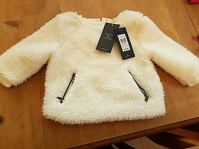 tommy hilfiger 12m girls furry jumper brand new with tags