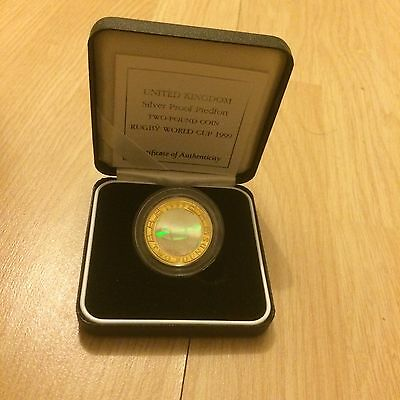 British Royal Mint Silver proof Piedfort £2 Two Pound Coin