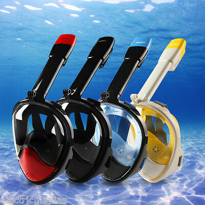 Full Face Snorkeling Diving Scuba Mask Goggles Swimming Breather Tube for Gopro