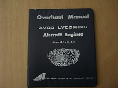 Overhaul manual Avco Lycoming aircraft engines HO HIO VO IVO 360 O 235 290 etc
