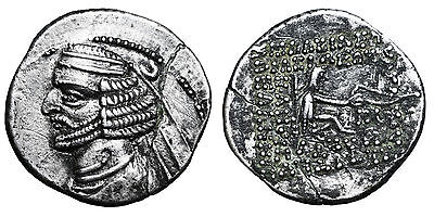 KINGS of PARTHIA. Orodes II. 57-38 BC. AR Drachm CERTIFIED #g22