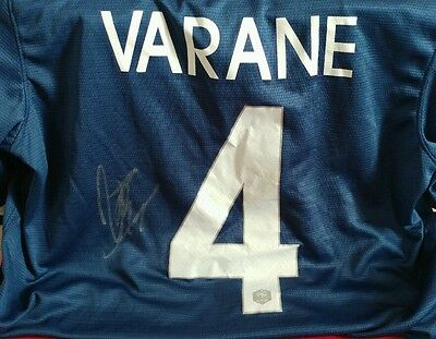Varane hand signed french national football top with coa