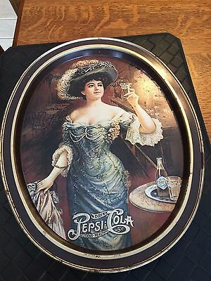 Vintage Pepsi Cola Oval Tray with Gibson Girl