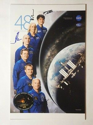 ISS 48 expedition Huge photo 20x30 cm signed by Astronauts