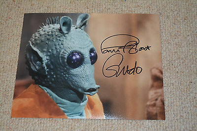 PAUL BLAKE signed Autogramm In Person  20x25 cm STAR WARS Greedo