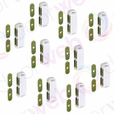 LARGE MAGNETIC DOOR CATCH Heavy Duty Twin Magnet Cupboard Cabinet WHITE 10 PACK