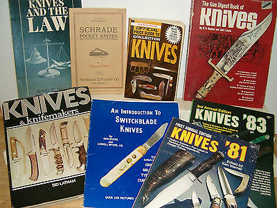 8 Vintage Pocket/Hunting/Custom Knife Books Price Guides History Info on Knives