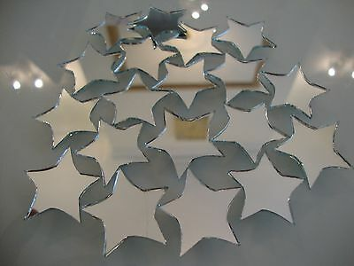 Mosaic Star shaped mirror for art work, 2mm thick, 25 pcs