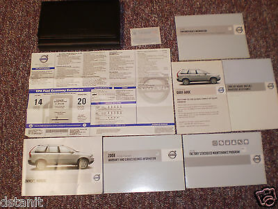 2008 Volvo Xc90 Complete Suv Owners Manual Books Guide Window Label Case All