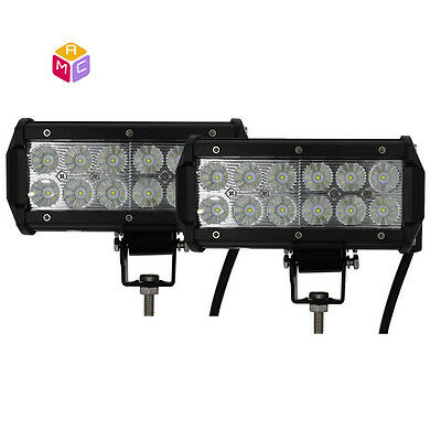Pair 36W Flood Fog Driving Led Work Light Bar fit Offroad SUV boat truck tractor