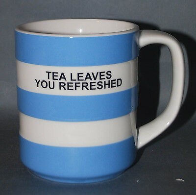 Limited Edition Cornish Ware Mug - 'tea Leaves You Refreshed'