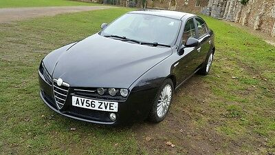 2007 ALFA ROMEO 159 LUSSO JTS BLACK RED LEATHER - -Service History