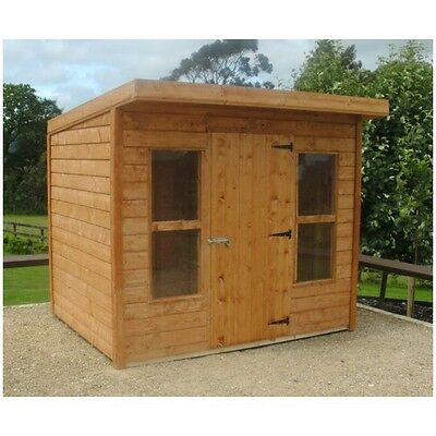 8x5 pent shed with canopy