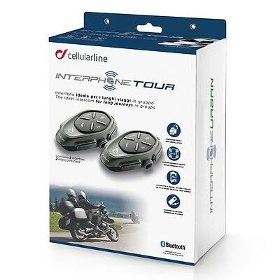 Interphone Tour Twin Pack Bluetooth,quality music get GPS Directions 1.5KM DIST