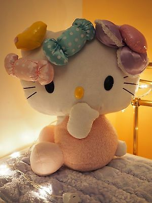Hello kitty Cat Chat peluche doudou 38cm bonbons rose sweet pink cute