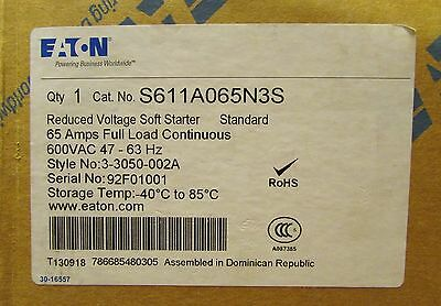 EATON CUTLER HAMMER S611A065N3S 65 Amp Reduced Voltage Soft Starter