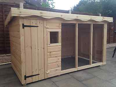 Extra Large Dog Kennel And Run **delivery Within 5 Working Days* *