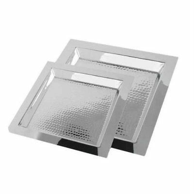 """Serving Tray, 13"""" Eastern Tabletop Square Stainless Steel Party Food"""