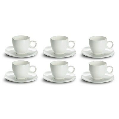 Set of 6 Espresso Cup with Saucer 110 ml Maxwell & Williams Cashmere Square