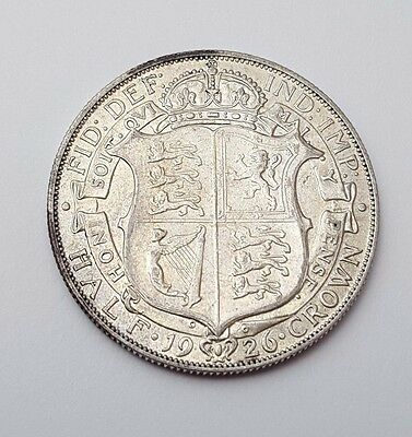 1926 - Silver Coin - Half Crown - Great Britain - King George V - English UK