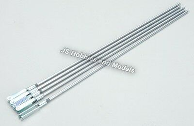 "RC Model Plane/Aircraft etc - Kavan Pushrod 8"" (203mm) M3 with Clevis, Pack of 5"