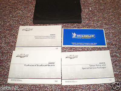 2012 Chevrolet Tahoe Police & Special Service Owners Manual Books Guide Case All