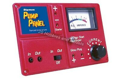 RC Plane/Heli etc - Ripmax Power Panel with Fuel Pump Meter & Glow Charger