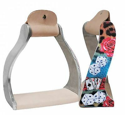 GAMBLIN ROSE Lightweight Twisted Western Saddle Replacement Stirrups Deep Tread